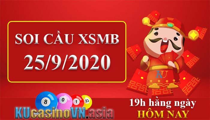 soi cầu xsmb 25/9/2020