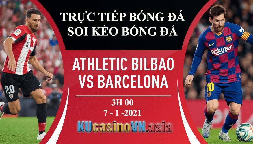 trực tiếp soi kèo bóng đá Athletic Bilbao vs Barcelona
