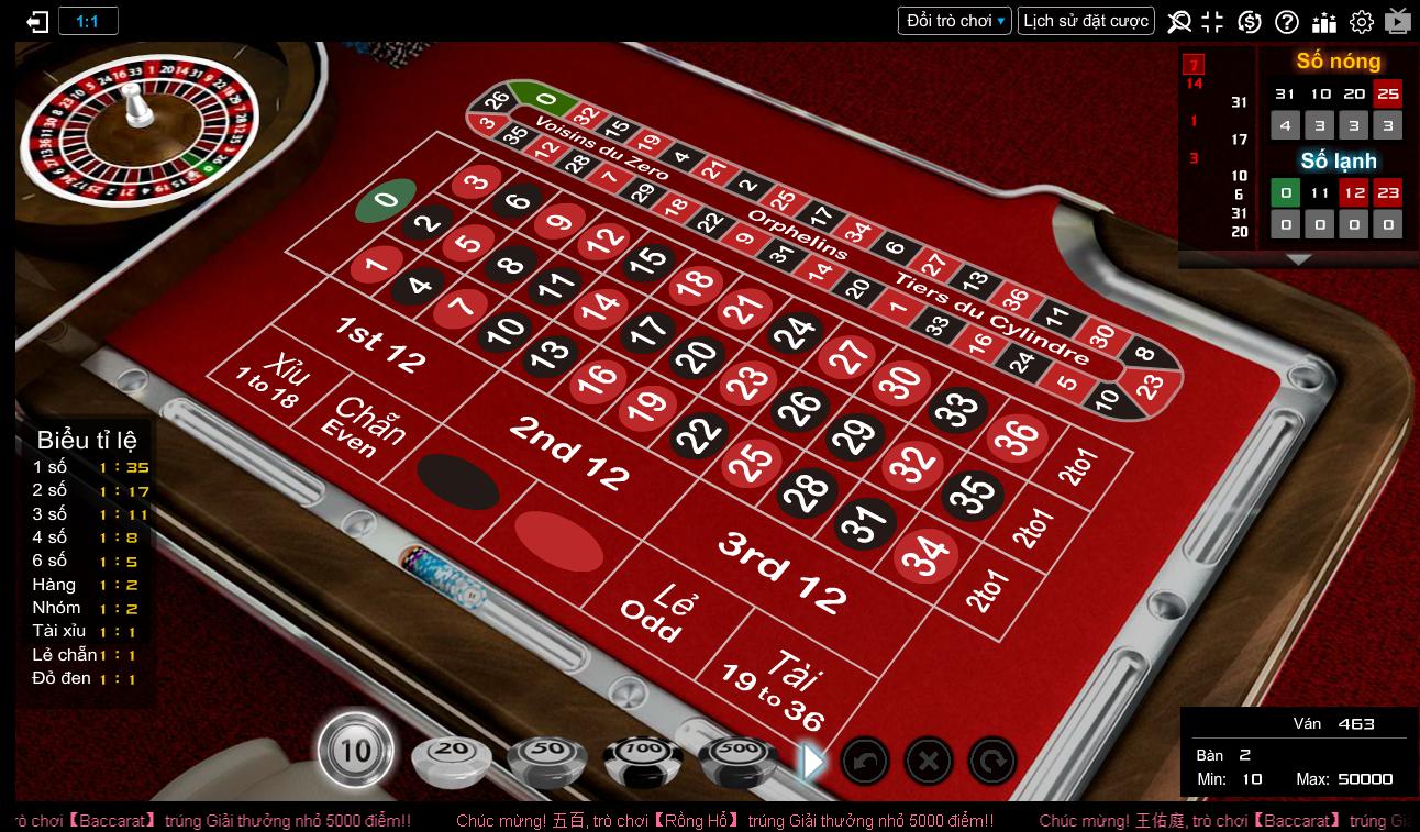 cách chơi Roulette trên kubet