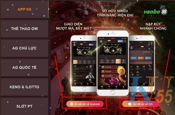 cách tải App K8