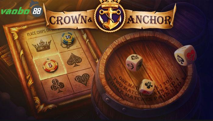 Bầu cua tôm cá miền Tây gọi là Crown and Anchor.