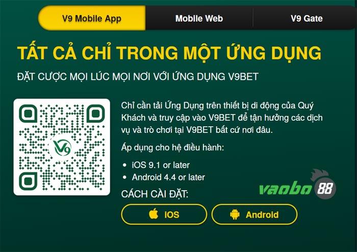hướng dẫn cài đặt v9bet trên điện thoại