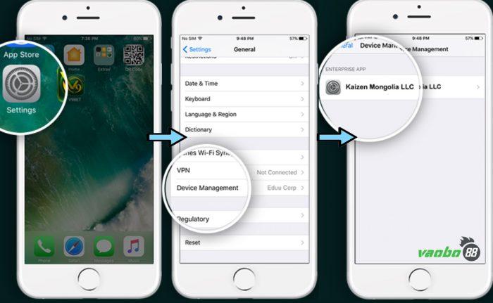 cài đặt ứng dụng iphone v9bet