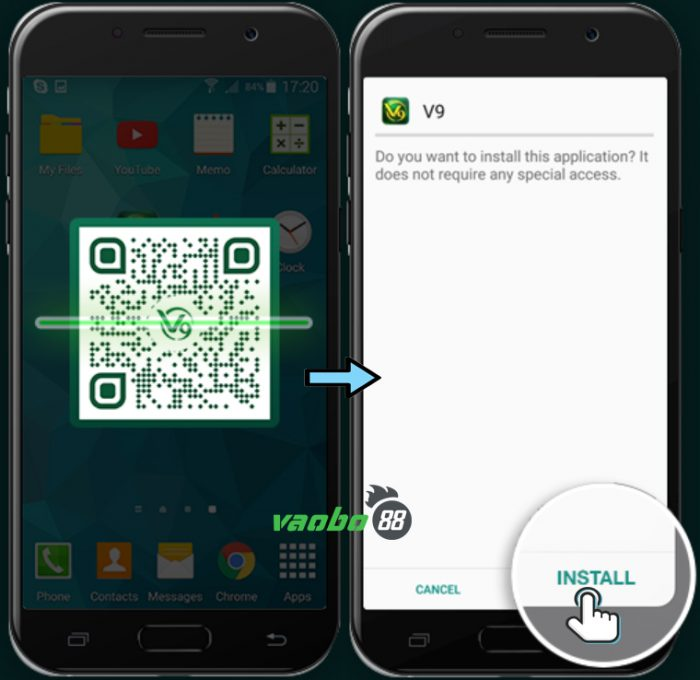 hướng dẫn tải ứng dụng v9bet android