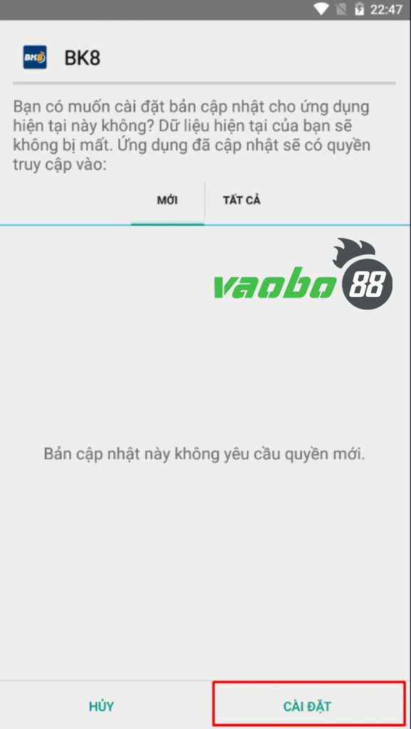 cách tải ứng dụng đại lý android bk8