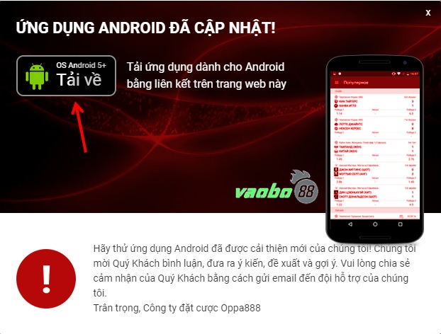 Tải ứng dụng oppa888 android