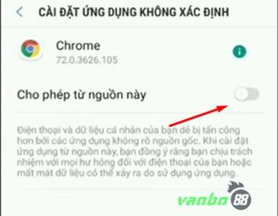Cách cài đặt ứng dụng vn88 android