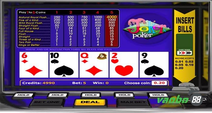 trò chơi poker video