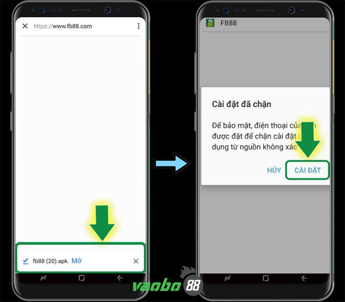 cách tải ứng dụng fb88 android