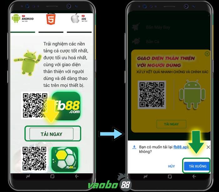 cách tải ứng dụng fb88 cho android