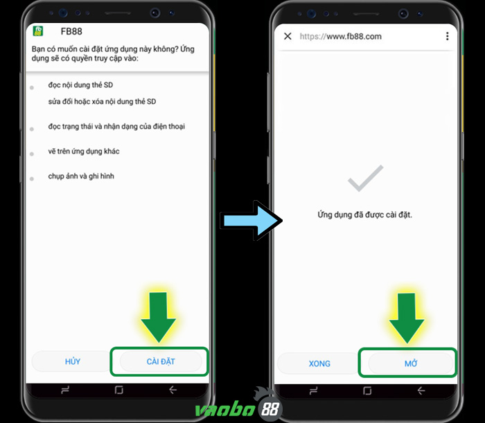 cách cài đặt fb88 trên điện thoại android
