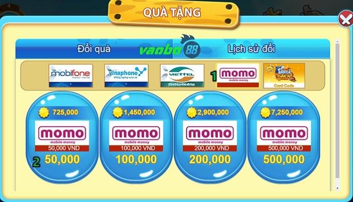 Rút tiền bắn cá đổi momo