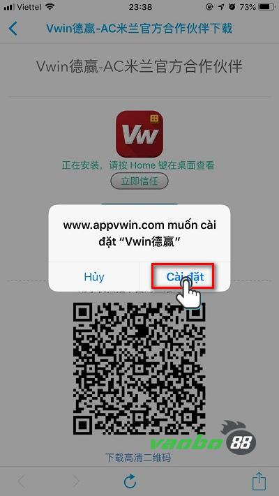 hướng dẫn cài đặt ứng dụng vwin