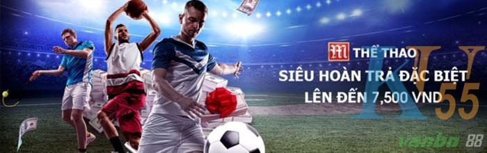 M Sports hoàn tiền hấp dẫn lên đến 7.500.000 VND